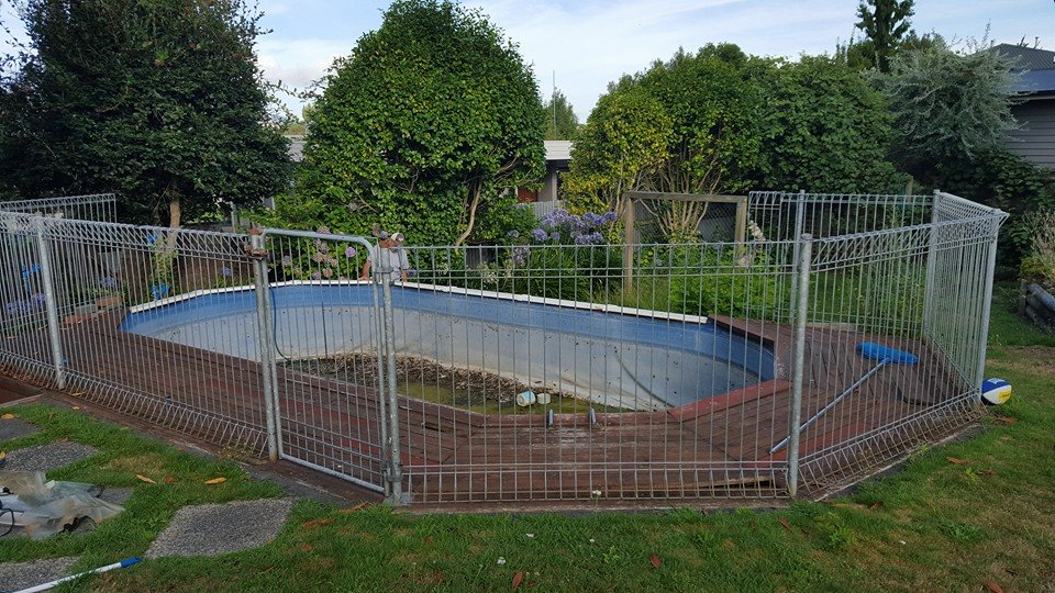 The old pool had to go.