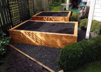 Garden Restoration and Sleeper Vege Bins